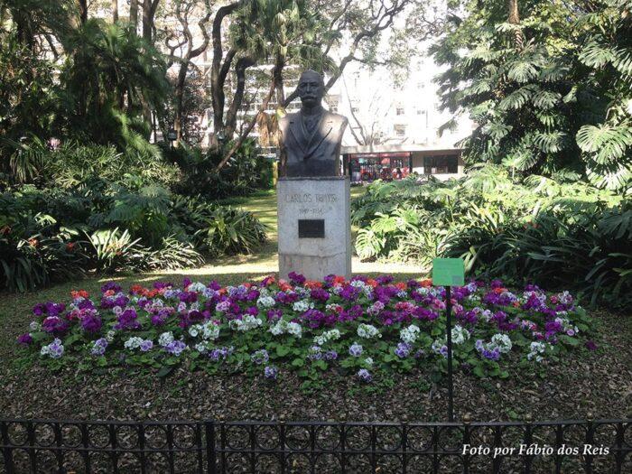 Escultura de Carlos Thays no Jardim Botânico de Buenos Aires