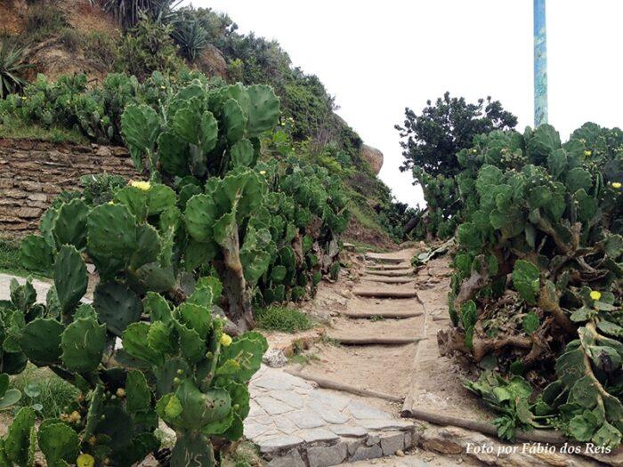 Caminho de entrada da Pedra do Arpoador, no Rio de Janeiro