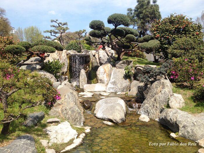 Cascata no Jardim Japonês