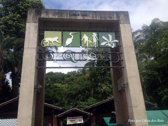 Entrada do Orquidário de Santos - SP