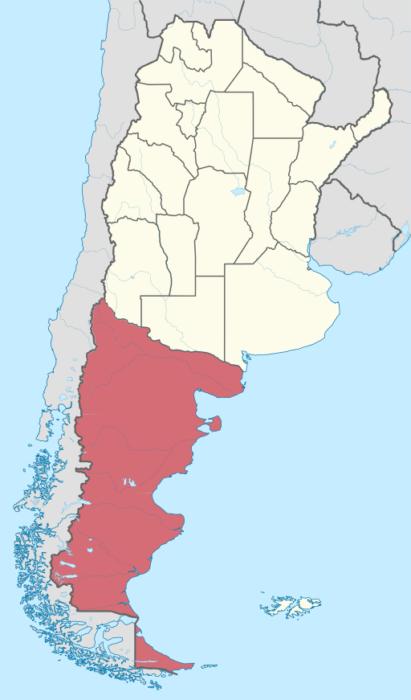Mapa da Patagônia Argentina