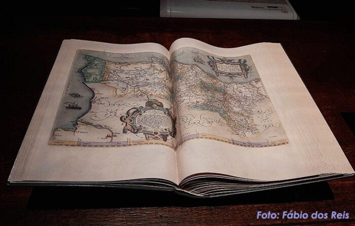 Mapa antigo no Plantin-Moretus