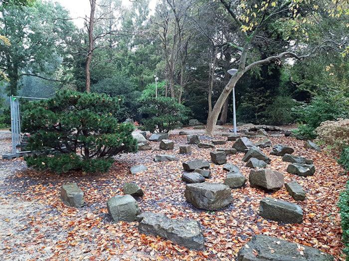 Trecho do Jardim Japonês no Amstelpark