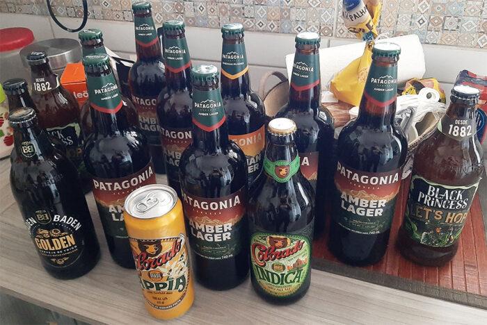 Cervejas variadas: Patagônia, COlorado Appia, Baden Baden