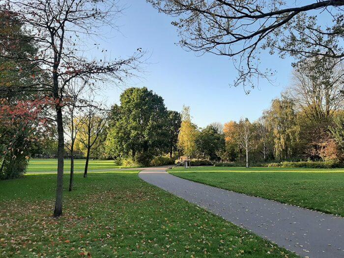 Caminho para correr, caminhar ou andar de bicicleta