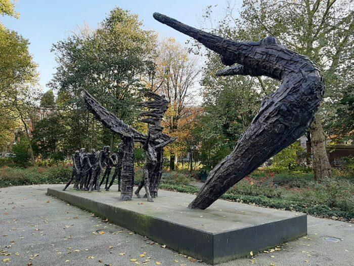 monumento comemorativo da abolição oficial da escravidão na Holanda